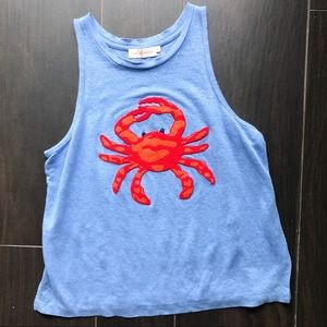 Tory Burch embroidered crab tank